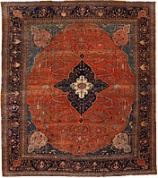 Antique Sarouk Farahan Persian Rug 43721 Nazmiyal - By Nazmiyal
