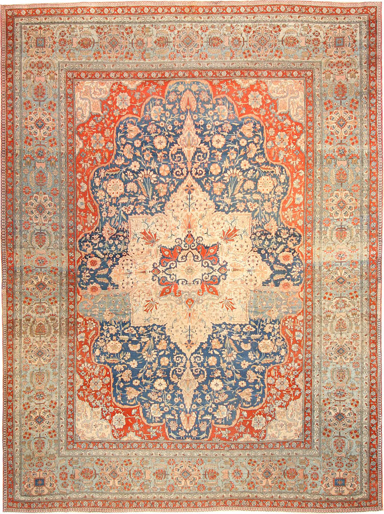 Antique Persian Rug by Mohtashem Kashan 42624