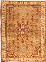 Antique Silk Heriz Serapi Persian Rugs 40829 Color Details - By Nazmiyal