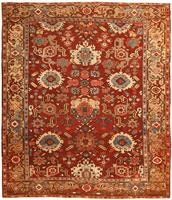 Antique Serapi Persian Rug #43451 Color Details - By Nazmiyal