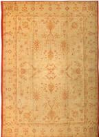 Antique Oushak  Turkish Rug 2988 Color Details - By Nazmiyal