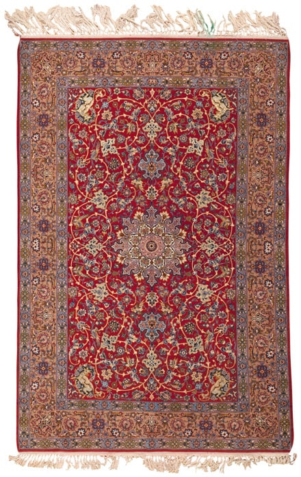Isfahan Persian Rug 45243 Main Image - By Nazmiyal