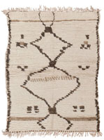 Vintage Moroccan Rug 45302 Color Details - By Nazmiyal
