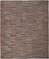 color 46057 Antique Hooked American Rug 2446