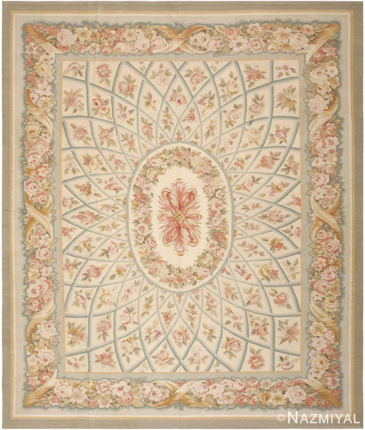 Chinese Carpets And Rugs: Modern Aubusson Rug 44690 By Nazmiyal