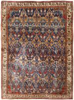 color 43925 Antique Persian Heriz Serapi Carpet 47457
