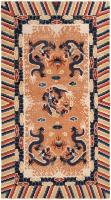 color 46588 Antique Persian Khorassan Carpet with Animal Hunting Scene Design 47492