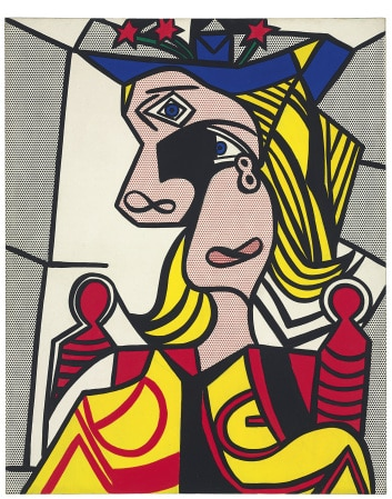 lot-34-lichtenstein-woman-with-flowered-hat