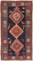 Antique Caucasian Kazak Rug 47122 Color Detail - By Nazmiyal