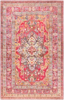 Antique Silk Kerman Persian Rug 47150 Color Detail - By Nazmiyal