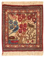 Antique Persian Kashan Rug 47227 Color Detail - By Nazmiyal