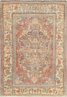 Antique Mohtasham Kashan Persian Carpet 47174 Color Detail - By Nazmiyal