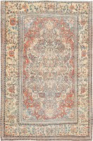 Antique Persian Kashan Mohtashem Rug 47175 Color Detail - By Nazmiyal