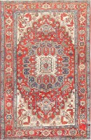 antique persian heriz serapi carpet 47457 color Antique Persian Heriz Serapi Carpet 47457