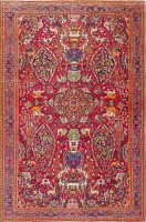 Antique Persian Khorassan Carpet with Animal Hunting Scene Design 47492 Color Detail - By Nazmiyal