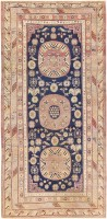 Beautiful Antique Khotan Carpet from East Turkestan 47498 Color Detail - By Nazmiyal