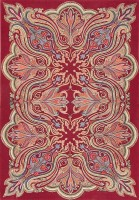rare antique art nouveau american hooked rug 47491 color Rare Antique Art Nouveau American Hooked Rug 47491