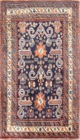 Antique Perpedil Caucasian Shirvan Rug 47603 Color Detail - By Nazmiyal