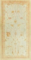 Beautiful Ivory Background Large Scale Oushak Rug 47524 Color Detail - By Nazmiyal