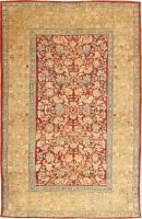 Antique Agra Oriental Carpets 42109 Color Detail - By Nazmiyal