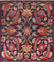 Antique Persian Kerman Rug #47985 Color Detail - By Nazmiyal