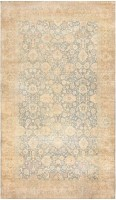 Antique Floral Indian Rug 47602 Color Detail - By Nazmiyal