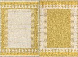 Vintage Double-sided Swedish Kilim Rug 48053 Color Detail - By Nazmiyal
