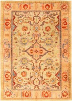 Antique Turkish Oushak Rug 48102 Color Detail - By Nazmiyal