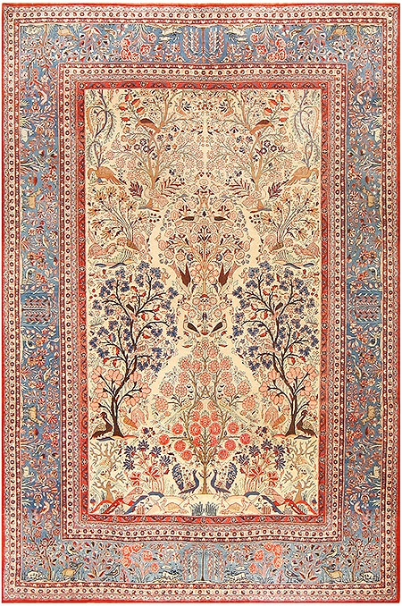 Antique Persian Kashan Dabir Rug 48133 by Nazmiyal