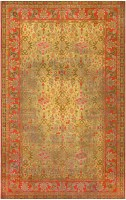 Large Antique Irish Donegal Carpet 2688 Color Detail - By Nazmiyal